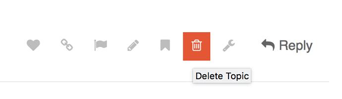 trashcan icon under post