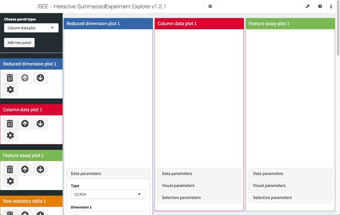 iSEE - interactive SummarizedExperiment Explorer v1.2.1