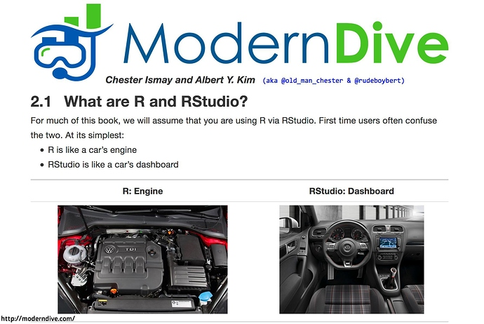 What are R and RStudio? From ModernDive