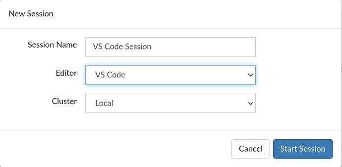 New VS Code Session