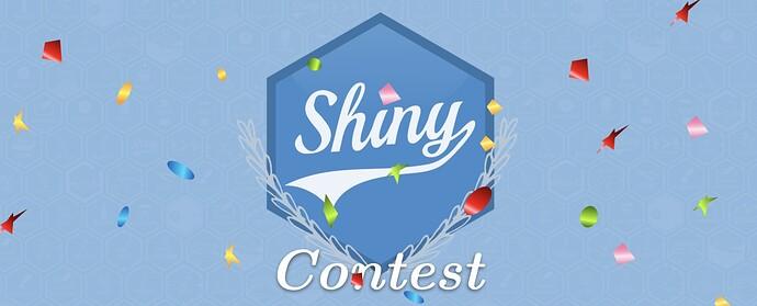 Shiny contest banner with confetti