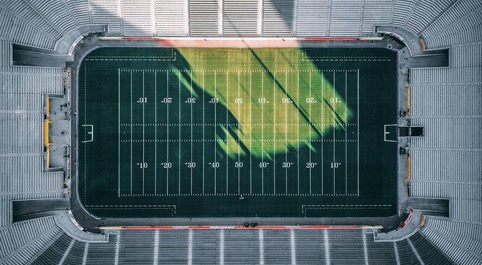 This American Football field kinda looks like a bar chart.