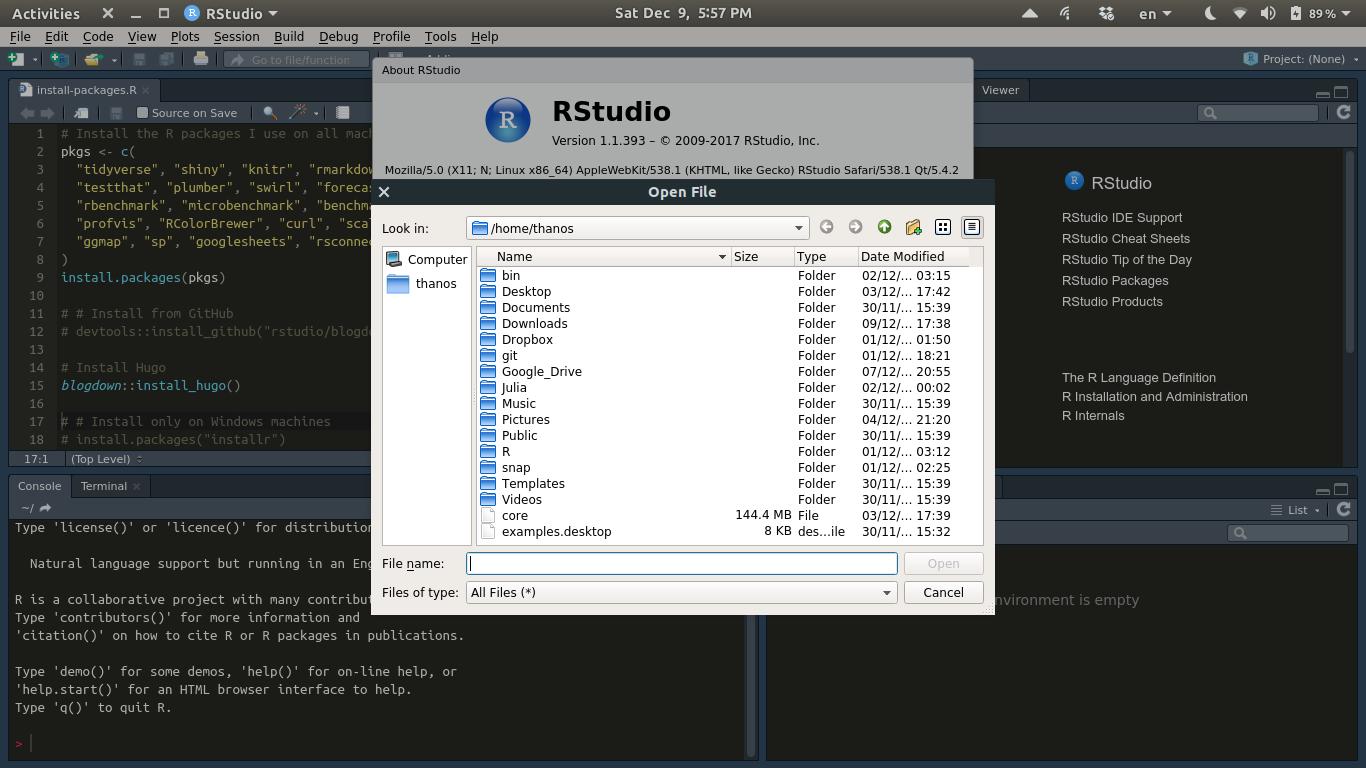 Weird-looking menus in Ubuntu 17 10 - RStudio IDE - RStudio