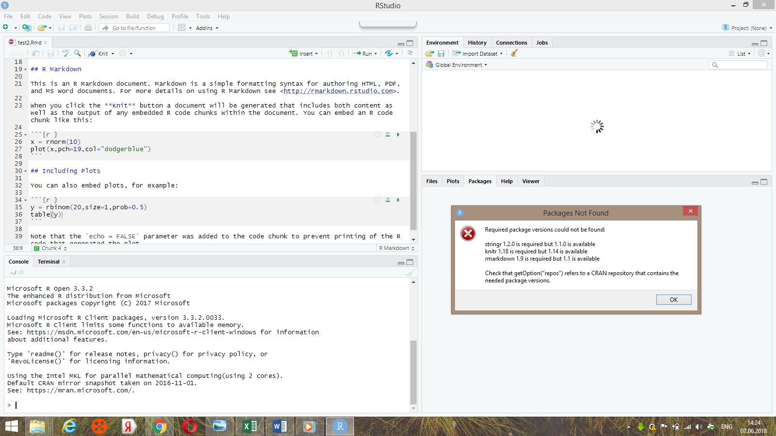 Issue with installation and updating packages - RStudio IDE