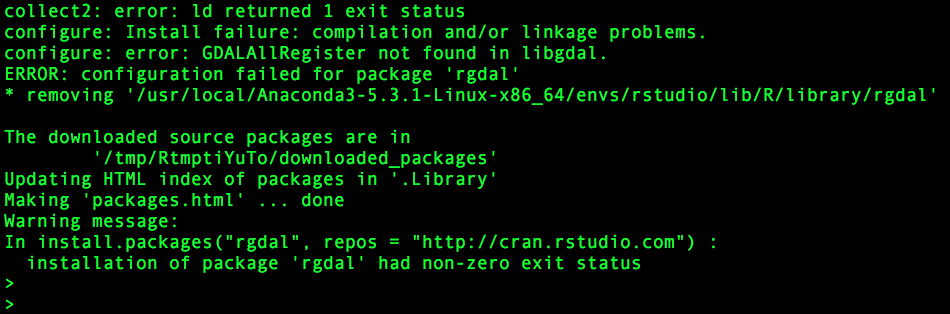 Unable to install rgdal package in Rstudio - General