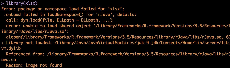 Errors loading rJava - \