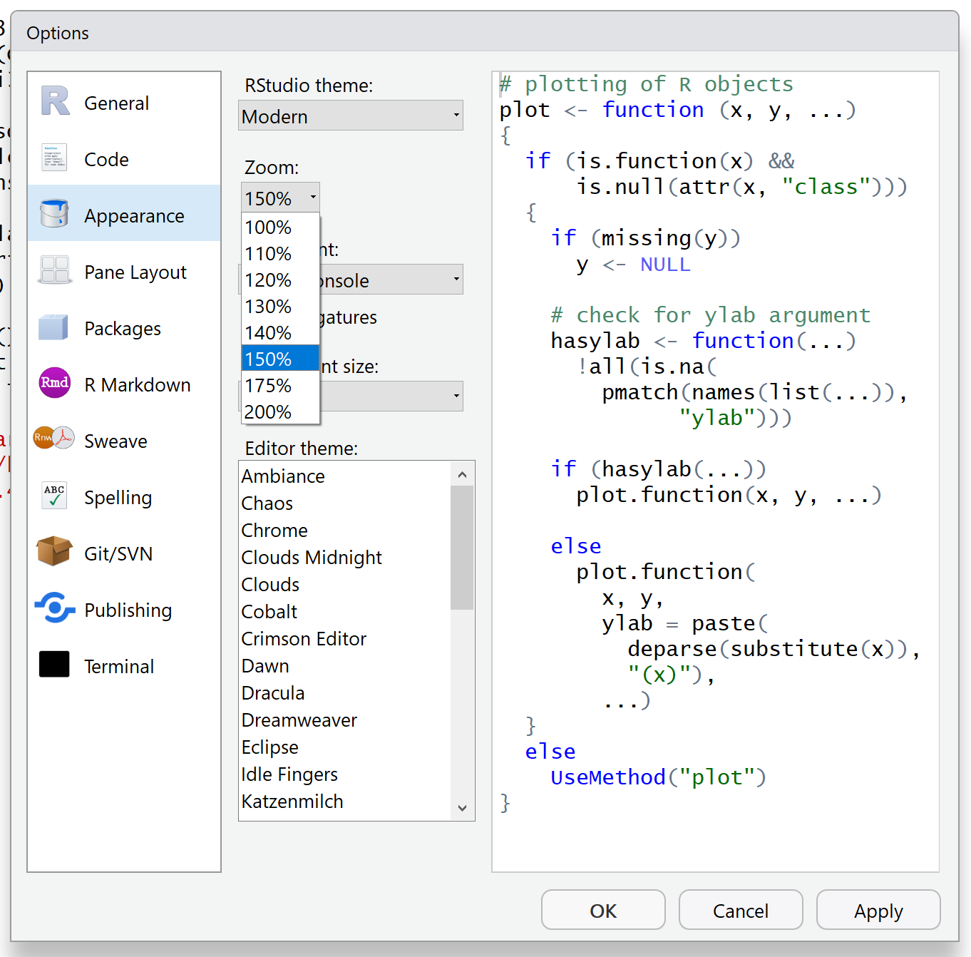 Dramatic screen resolution issue - see screen snip - RStudio