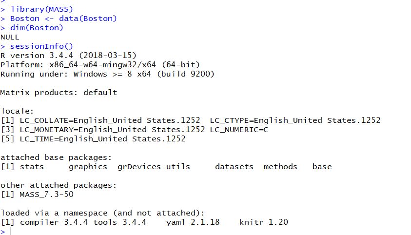 Can't find the Dataset Boston in MASS - General - RStudio Community