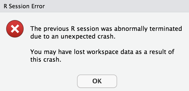 ODBC Hive Connection makes Rstudio crash // Connection pane issue