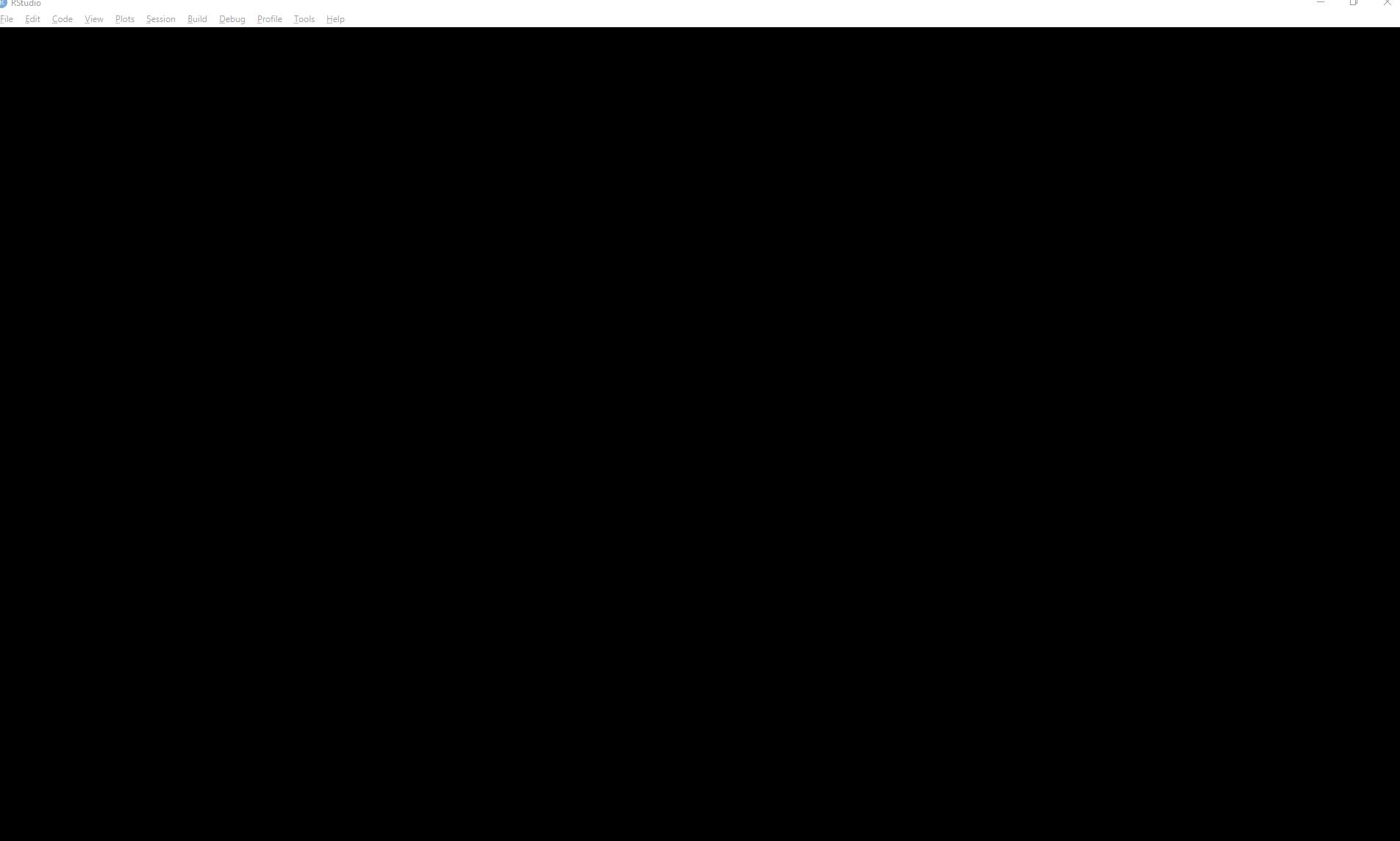 RStudio Preview IDE RStudio-1 2 1139 Screen is black - RStudio IDE