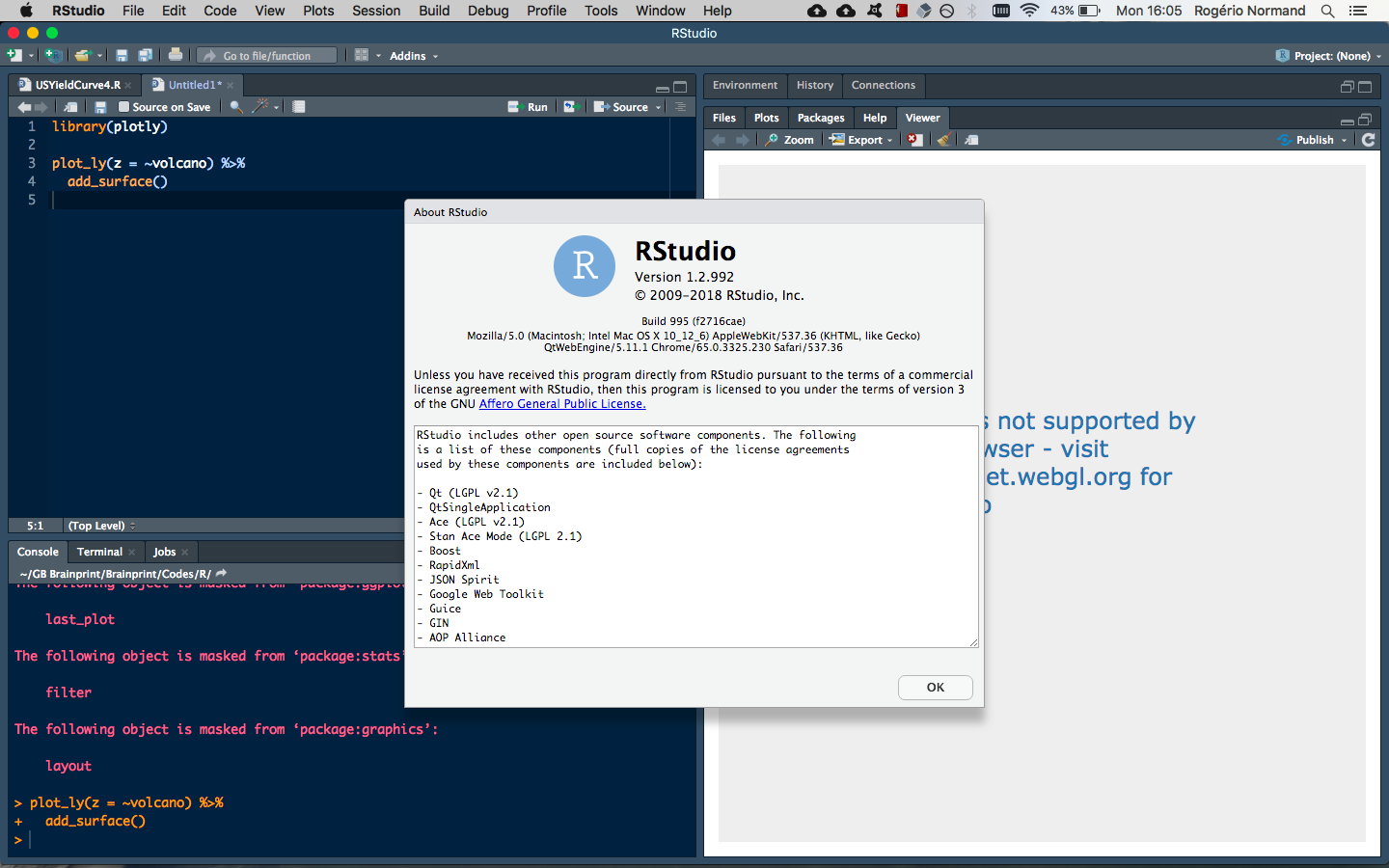 WebGL is not supported by your browser - Plotly - RStudio IDE