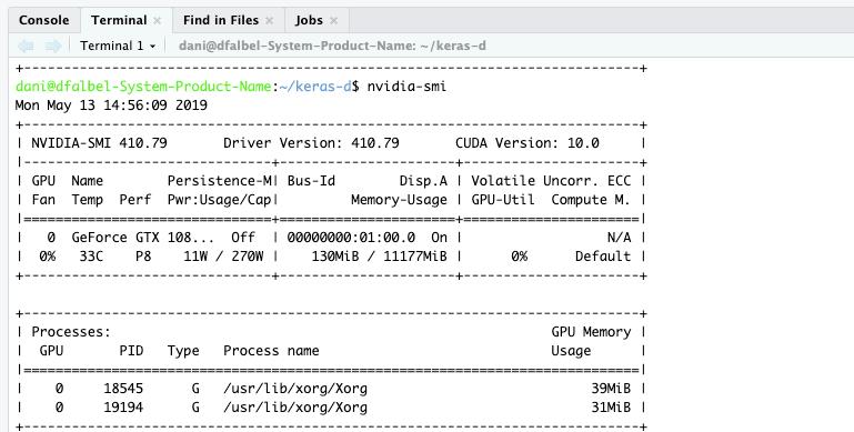 GPU No Longer Working in RStudio Server with Tensorflow-GPU for AWS